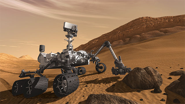 The Curiosity Rover on the moon is power by a nuclear generator that is barely strong enough to power a ceiling fan