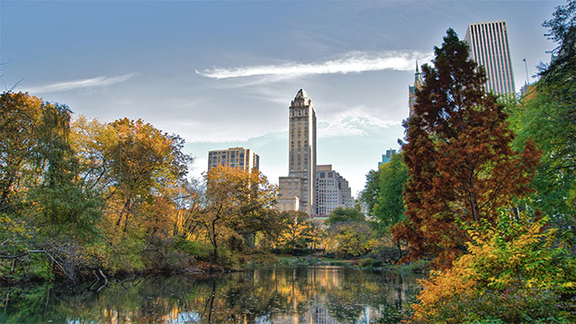 Opened in 1858, Central Park was the first landscaped park in any American city