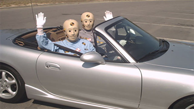 Begun in 1952, the Automotive Crash Injury Research Center initially started doing its crash tests with corpses instead of dummies
