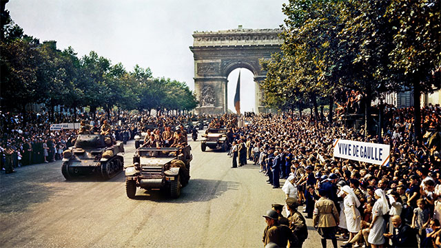 In order to get through Paris quickly, when the Allies liberated the city they threw themselves a parade.