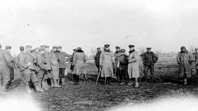 In the middle of World War, on Christmas Day in 1914, some officers from the UK and Germany called a truce. The men exchanged gifts and even played a game of football among themselves