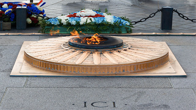 The eternal flame at the Arc de Triomphe in Paris was only put out once and that was accomplished by intoxicated Mexican football fans who ended up urinating on it during the 1998 World Cup