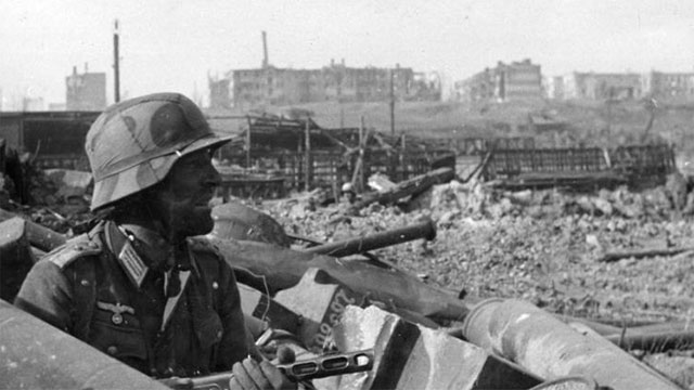 During the Battle of Stalingrad a railway station changed hands 14 times in one day