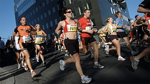 In some marathons there is a sweeper bus that comes along after a certain amount of time to pick up those who are still on the track
