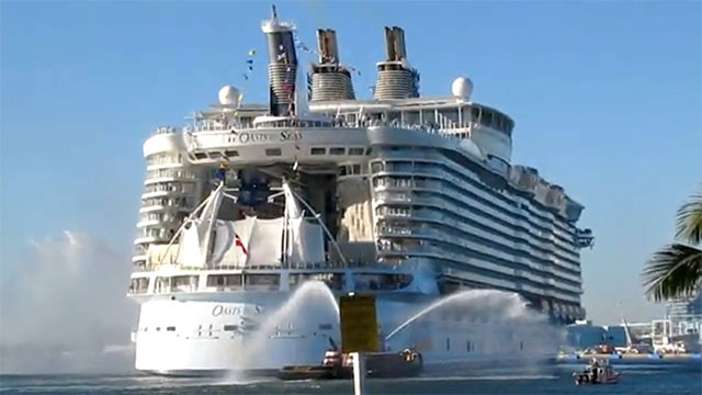 Cruise ships operating in the Indian Ocean are equipped with high pressure hoses and powerful sound cannons to deter pirates