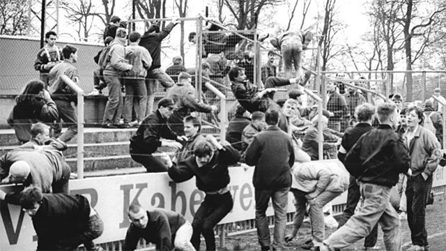 In 1985, British football hooligans injured nearly 600 people which caused all British teams to be banned from international competition for a period of 5 years