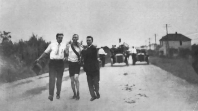 The men's marathon during the 1904 St Louis Olympics was very disorganized. First place rode most of the way in a car. Second place was carried across the finish line after having been injected with rat poison (a stimulant). And third place took a nap in the middle of the race