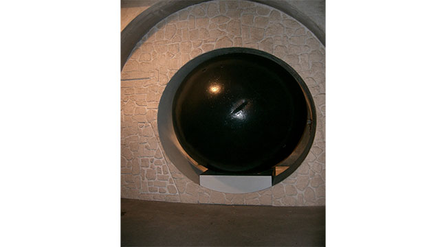 The Paris sewer system was once cleaned using giant rolling balls that would push the water ahead of themselves