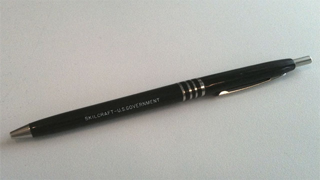 All pens bought by the US government are Skilcraft pens assembled by blind people.