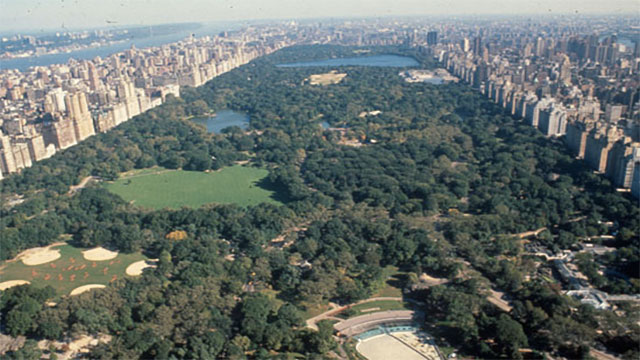 The construction of Central Park in the 1850s was one of the largest public works projects of that time period