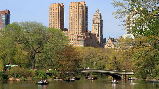 Although Central Park looks natural, as we said earlier, it is almost entirely landscaped. It even contains several artificial lakes.