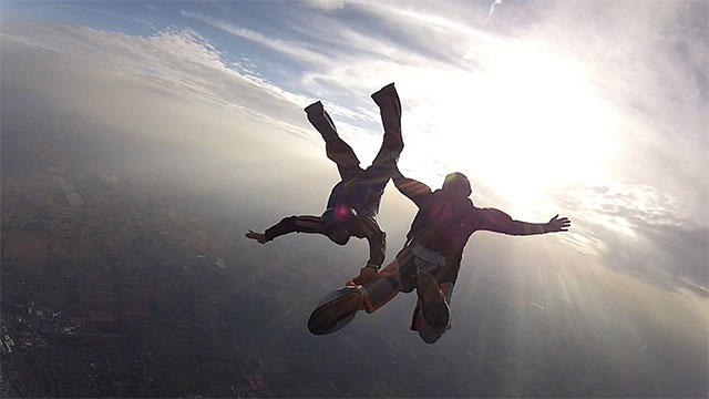 When Joan Murray's parachute failed while she was skydiving she crashed into an anthill going 130 km per hour. Doctors think that being stung by ants hundreds of times actually kept her heart beating due to an immense surge of adrenaline