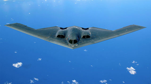 One modern US stealth bomber is capable of carrying 16 nukes (B83). Each one of those bombs is 75 times as powerful as the one dropped on Hiroshima