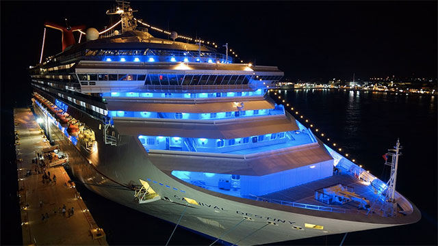 On average, a cruise ship will have employees of about 64 different nationalities.