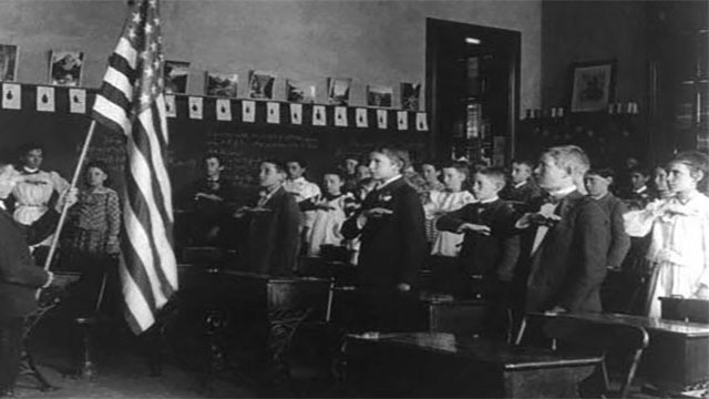 """""""Under God"""" was added to the Pledge of Allegiance during the Cold War to show resistance to Communism because the Communists were atheistic"""