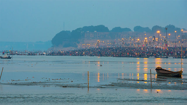 The Kumbh Mela festival in India draws 100 million people annually. This is the largest gathering of people in the world