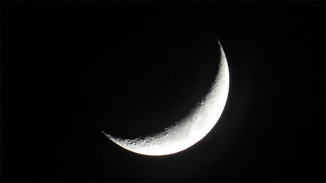 How do you know the moon is going broke?