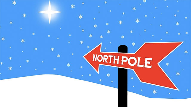 The north pole is actually the earth's south magnetic pole
