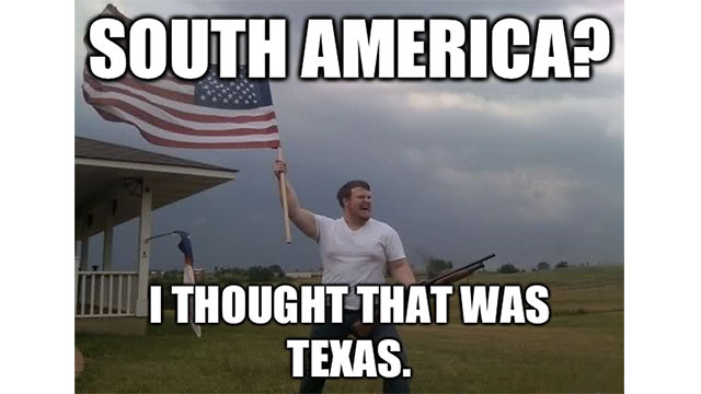 Saying you're from America (while in South America)