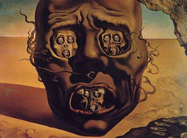 The Face of War, by Salvador Dalí