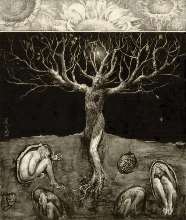a new you could be born today, by Santiago Caruso