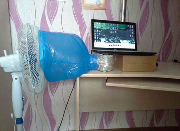 keeping the laptop cool