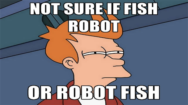 NYU performed an experiment with a robotic fish. The fish was actually accepted by other fish and even became their leader!
