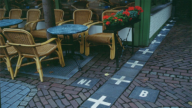 Belgium's border with the Netherlands is extremely convoluted. In the town of Baarle-Hertog, some of the buildings are even split right down the middle between the two countries.