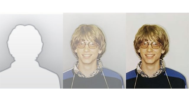 The generic user outline used in Microsoft Outlook 2010 was actually Bill Gate's mugshot from when he got caught driving without a license