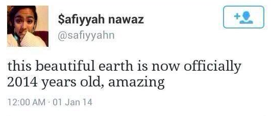 This beautiful Earth is now officially 2014 years old