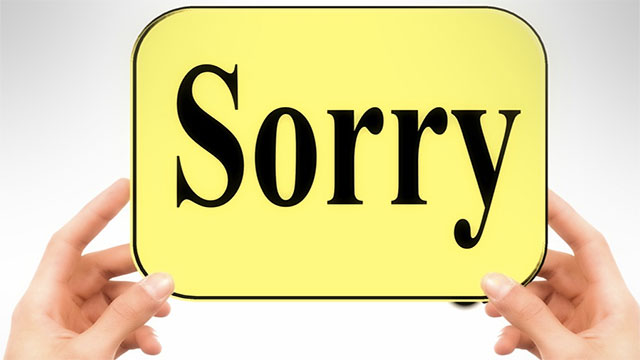 Don't ruin a good apology with an excuse