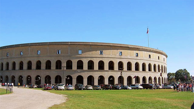 Harvard Stadium was the first reinforced concrete structure in the world