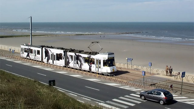 The Belgian Coast Tram is the world's longest tramway at 68 km.