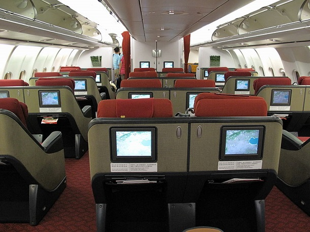 Hainan_Airlines_A340-600_B-6509_Business_Class