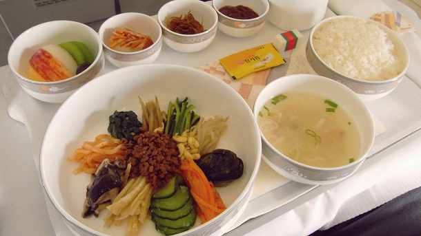 asiana airlines business class meal