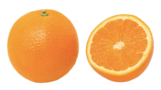 """The color orange was named after the fruit. Before its name change, it was known in English as """"geoluhread"""""""