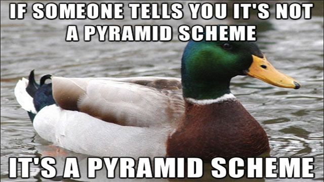 If you have to pay to join, you're a customer not an employee. The only way to make money in a pyramid scheme is to be near the top because that's where the scammers are (some of them don't even realize they're scammers)