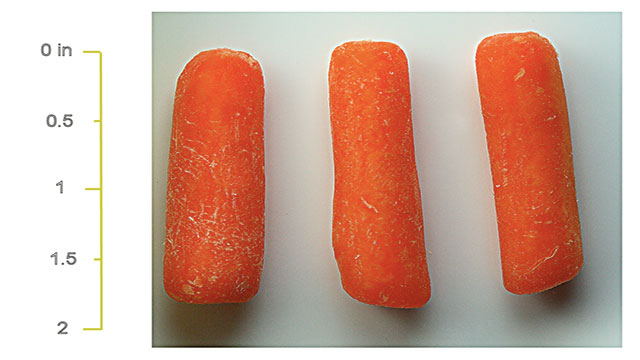 Baby carrots aren't miniature carrots. They're cut from the remains of ugly carrots that couldn't be sold.