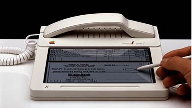 1983 brought the first iPhone design. It looked more like an iPad with a landline attached.
