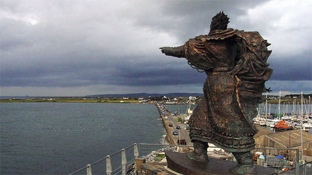 According to legend, St. Brendan is said to have discovered America in the 6th century when he sailed west and found an island so big that he couldn't cross it.