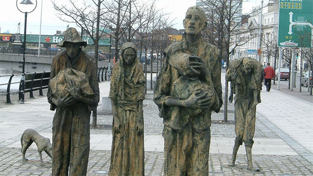 Ireland's population still hasn't bounced back from the famine in the mid 1800s. It used to be around 8 million, but its only 6.5 million today.