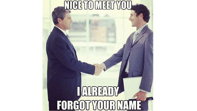 Remembering people's names the first time