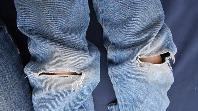 Wear ripped clothing