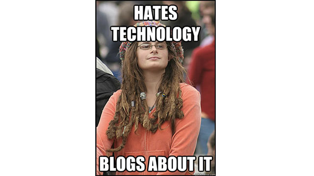 People who hate technology