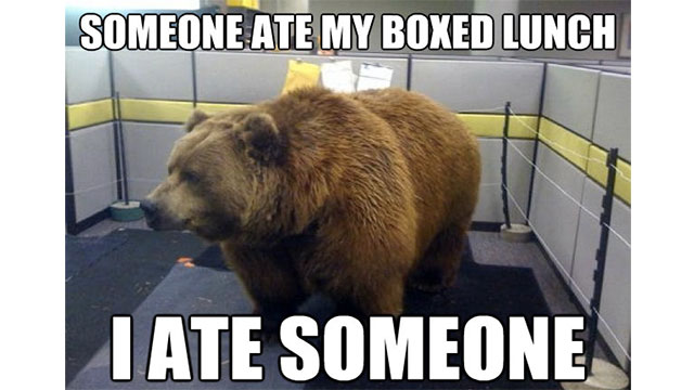 Eating your coworkers lunch out of the refrigerator