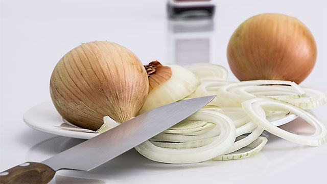 Close your eyes when cutting onions if you don't want to cry