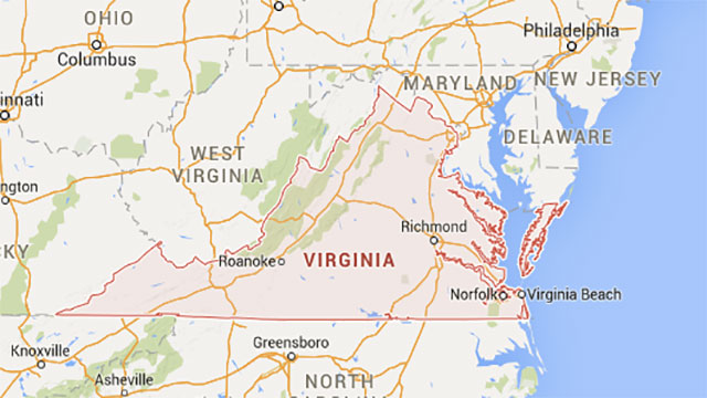 Virginia extends further west than West Virginia