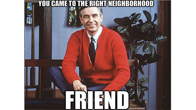 Mr. Rogers used to a be a Navy Seal and is covered in tattoos which is why he always wears long sleeves