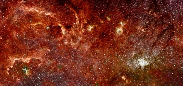 color mosaic of milky way center
