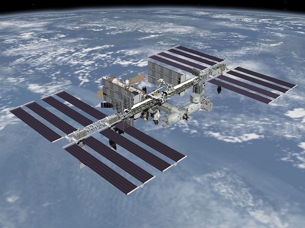 fully assembled international space station